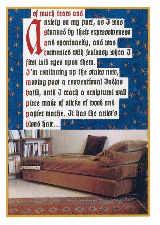Sorel Cohen, The Docent's Love Story (détails), 1999, livre d'artiste en dix exemplaires, 19 x 14 cm, photo: Richard-Max Tremblay. © Sorel Cohen/SODRAC (2010)