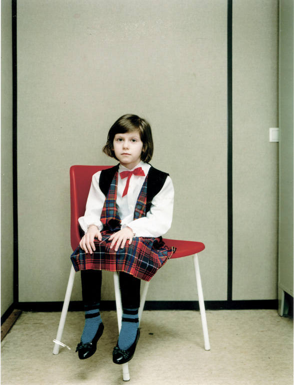 "Rineke Dijkstra, Almerisa, Asylumcenter Leiden, The Netherlands, March 14, 1994, Part of the ongoing series ""Almerisa"", Courtesy of Ellen Kern Fine Arts, NY © Rineke Dijkstra"