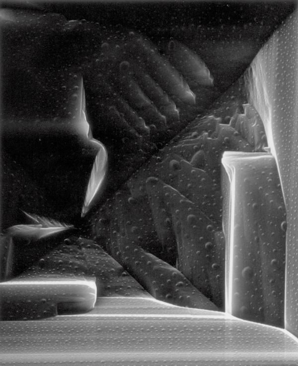 Claudia Fährenkemper , Sodium Chloride (1000x), 2002, from the series Habitus, silver prints on fibre-based paper, 42 x 53 cm. © Claudia Fährenkemper