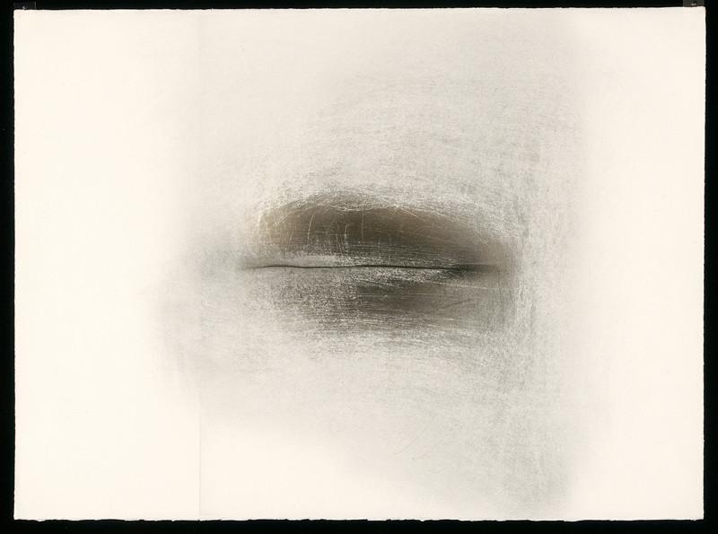 Paul Lacroix, Sans titre, 1979, 1985, 1999, photogramme avec graphite et pigment sur papier BFK Rives, 56 x 76 cm. © Paul Lacroix