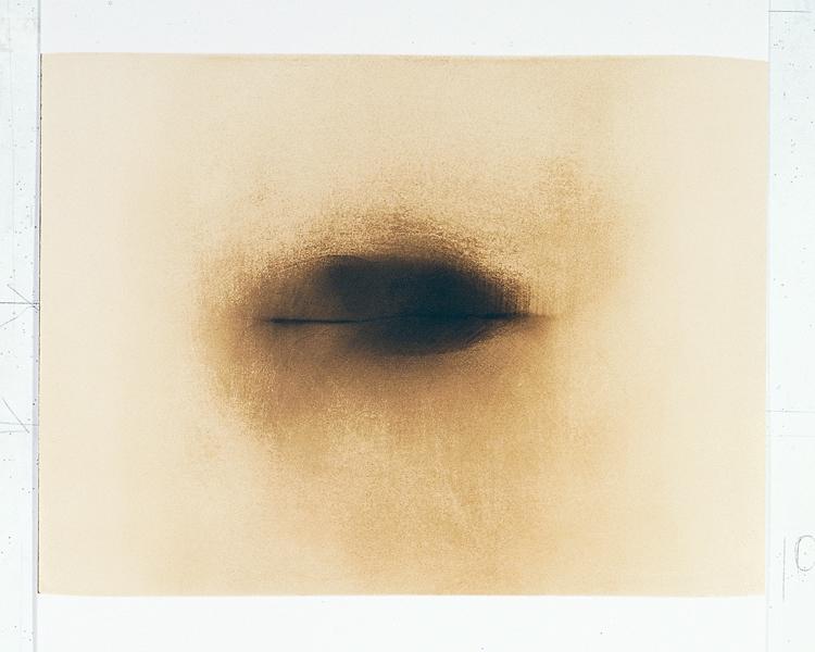 Paul Lacroix, Sans titre, 1978-2000, photographie avec dessin, 133 x 76 cm. © Paul Lacroix