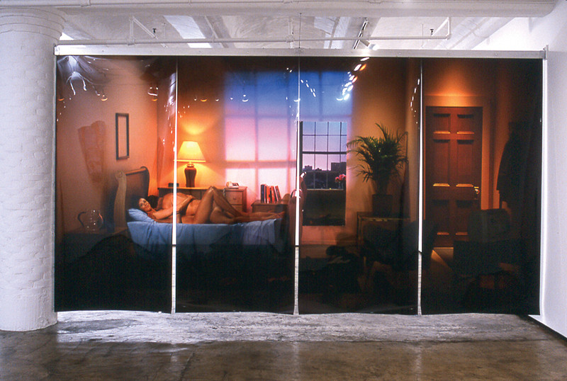 Michael Snow, 2003, Powers of Two, 2.7 cm x 4.9 m, suspended photo transparencies. ©Michael Snow