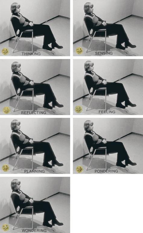N.E. Thing Co., Inactive Verbs (détail), épreuves à la gélatine argentique colorées à la main, 39 cm x 49 cm chacune, collection de la Banque d'oeuvres d'art du Conseil des Arts du Canada. ©N.E. Thing Co.