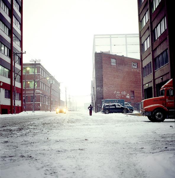 Emmanuelle Léonard, Working Paths, #1, photographies couleur, 75 x 75, 2004. © Emmanuelle Léonard