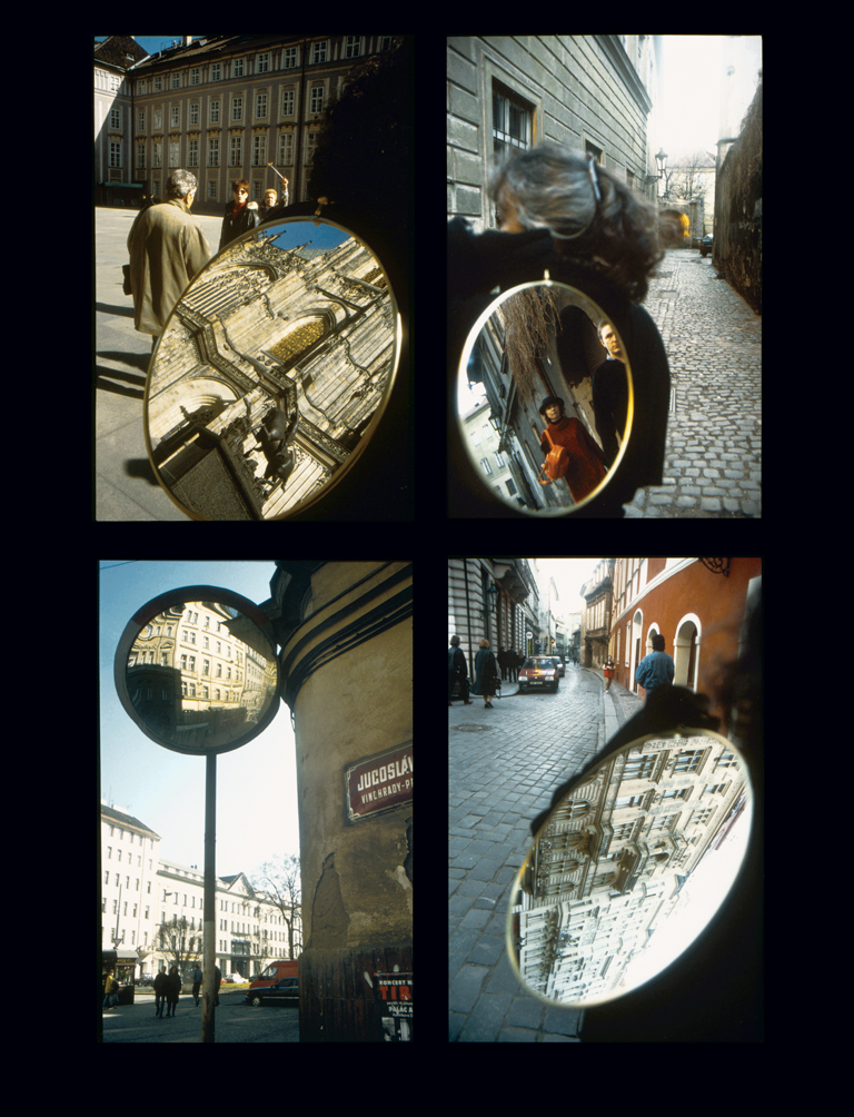 Pierre Granche, Prague, série de 6 photographies couleur, 1997, formats divers, collection : Gisel St-Hilaire, sauf la dernière : Yvette St-Hilaire. © Pierre Granche