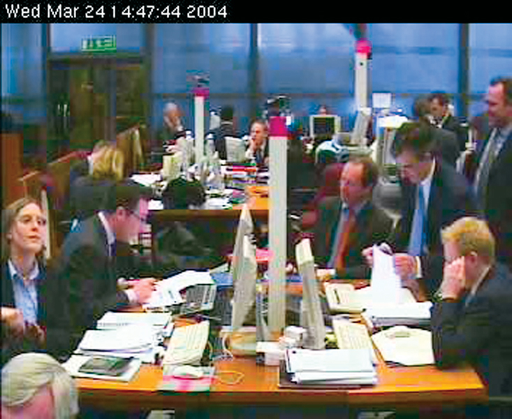 Cheryl Sourkes, Interior, 2003–04, excerpts, webcam screen captures, 2003–04. © Cheryl Sourkes