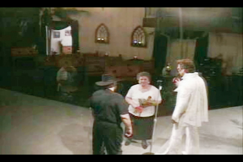 Cheryl Sourkes, Live from the Wedding Chapel in Las Vegas , 2004, excerpts, webcam screen captures. © Cheryl Sourkes