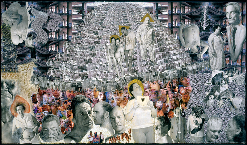 Donigan Cumming, Epilogue, 2005, from the diptych Prologue/Epilogue, mixed media on panel, 2.6 m x 4.4 m. © Donigan Cumming