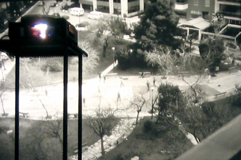 George Hadjimichalis, The View from the Windows, 2005, detail of the video installation, photo: Jean-François Bélisle. © George Hadjimichalis
