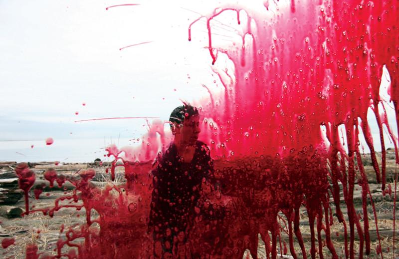 Rebecca Belmore, Fountain, 2005, performance-based video installation, photo: José Ramón González. © Rebecca Belmore