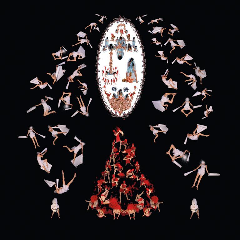Annie Baillargeon, Systématique n° 1. De la série Théâtre systémique de génétiques bio-affectives, épreuves jet d'encre, 274 x 274 cm. © Annie Baillargeon