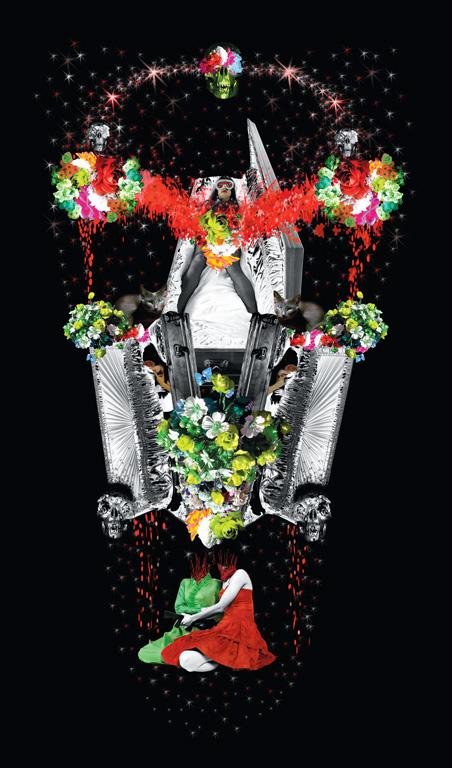 Annie Baillargeon, To be a scream dream. De la série Monuments fabulés, épreuve jet d'encre, 147 x 236 cm, 2004. © Annie Baillargeon