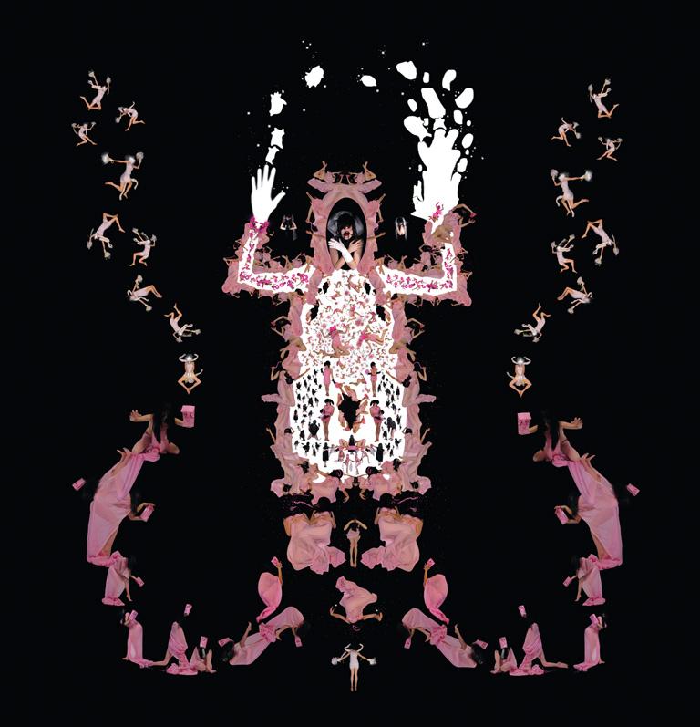 Annie Baillargeon, Systématique n° 4. De la série Théâtre systémique de génétiques bio-affectives, épreuves jet d'encre, 274 x 274 cm. © Annie Baillargeon