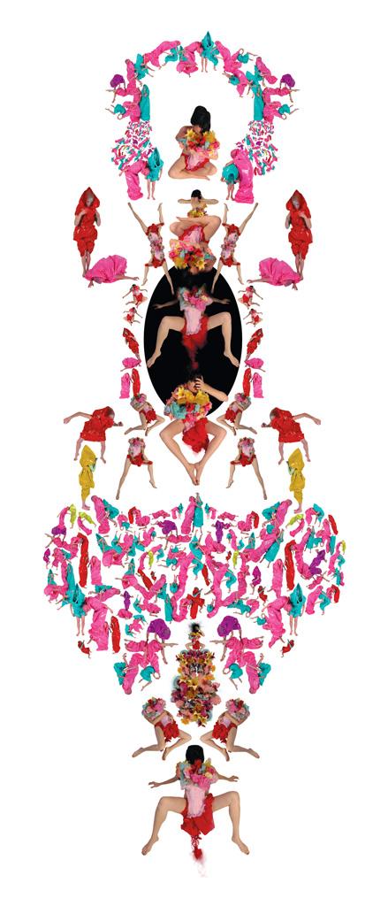 Annie Baillargeon, Bubble gum spirit. De la série Anamorphoses systémiques, épreuve jet d'encre, 81 x 183 cm, 2005. © Annie Baillargeon
