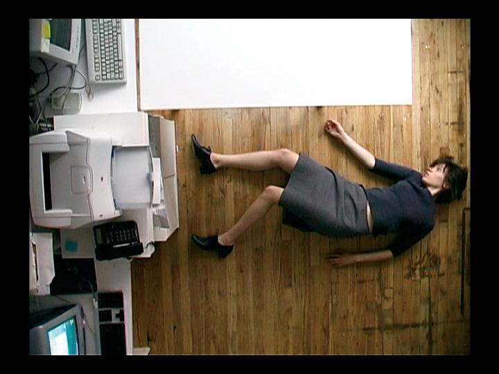 Manon De Pauw, Au travail (extraits). Monobande, boucle de 8 minutes, 2003. © Manon De Pauw