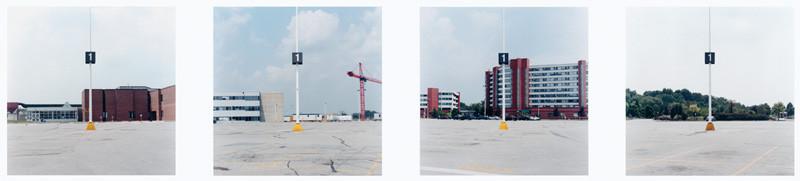 Pavel Pavlov, Humber College, Toronto (détail), de la série Parking Lots / LE CONQUÉRANT DE LA NOUVELLE FRONTIÈRE, épreuve couleur, 2002. © Pavel Pavlov