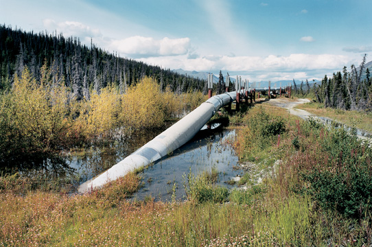 John Ganis, Alaska Pipeline, North of Valdez, Alaska, from the series Consuming the American Landscape, chromogenic print, 38 x 56 cm, 2001. © John Ganis