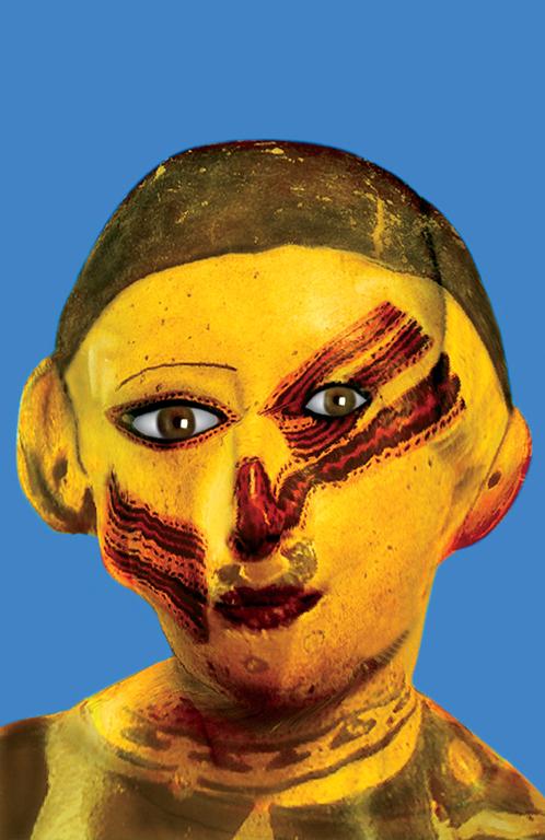 Orlan, Série Pre-Columbian Hybridations Refiguration, cibachrome, 166 x 116 cm, 1998, aide au traitement numérique des images : Pierre Zovilé, Montréal