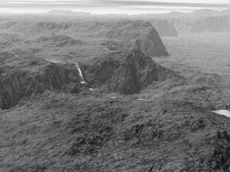 Joan Fontcuberta, Orogenèse : Fiske, 2004, épreuve argentique, 75 x 100 cm; George Fiske, Dancing on the Overhanging Rock at Glacier Point, 5200 feet, Yosemite National Park, California, c. 1885, sels d'argent sur papier albuminé, 19 x 10,8 cm, National Parks Service, Yosemite Museum. © Joan Fontcuberta