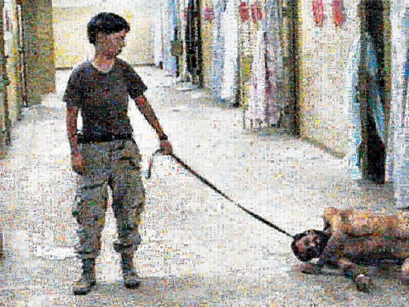 Joan Fontcuberta, Abu Ghraib, 2006, vignettes obtenues par une recherche à partir des noms et des postes occupés par les individus mentionnés dans le rapport du Independent Panel to Review DoD Detention Operations, © Joan Fontcuberta