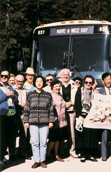 Jin-Me Yoon, Rocky Mountain Bus Tour, 1991, From the Souvenirs of the Self series, Chromogenic print, 10 x 15 cm, Courtesy of the Catriona Jeffries Gallery, Vancouver. © Jin-Me Yoon