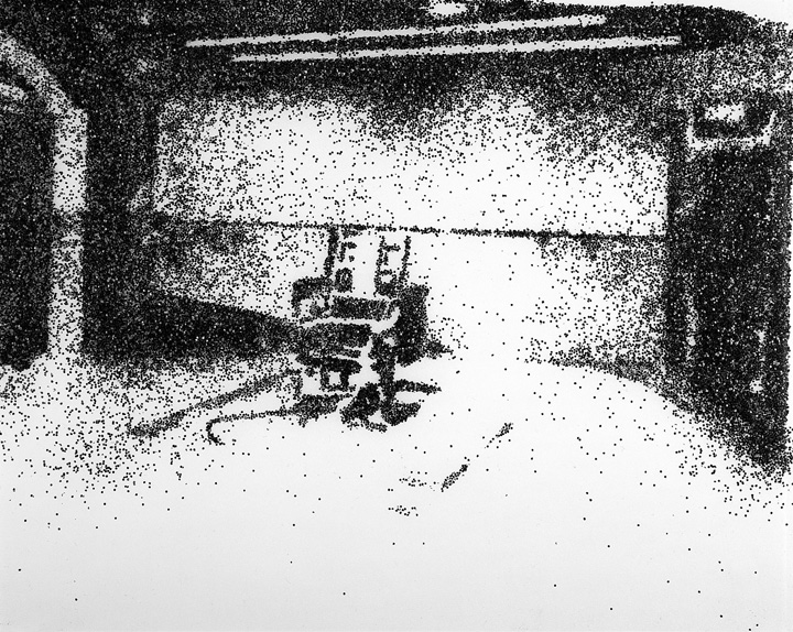 Vik Muniz, Electric Chair, After Wahrol, 2001, from After Wahrol series, chromogenic print.