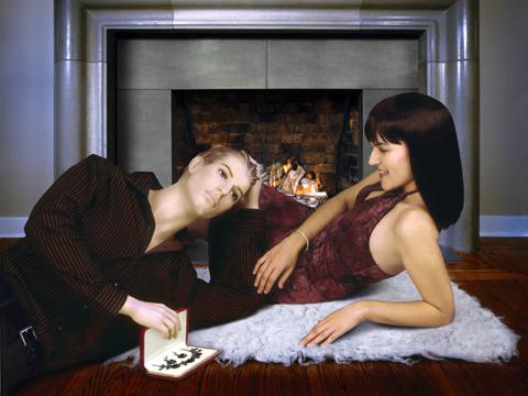 Susan Bozic, He's so thoughtful, it wasn't even my birthday, The Dating Portfolio, 2006, c-print, 76,2 x 101,6 cm, image: Art Mûr Gallery, Montreal. © Susan Bozic