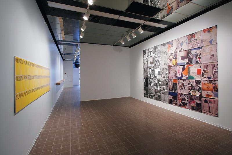 Vues d'installation de l'exposition