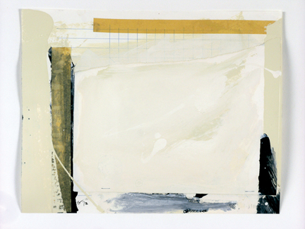 Charles Gagnon, Collage (Tape-grid), 1972, collage and paint on cardboard 43.2 x 50.3 cm. Photo : Paul Litherland. © Paul Litherland et Charles Gagnon