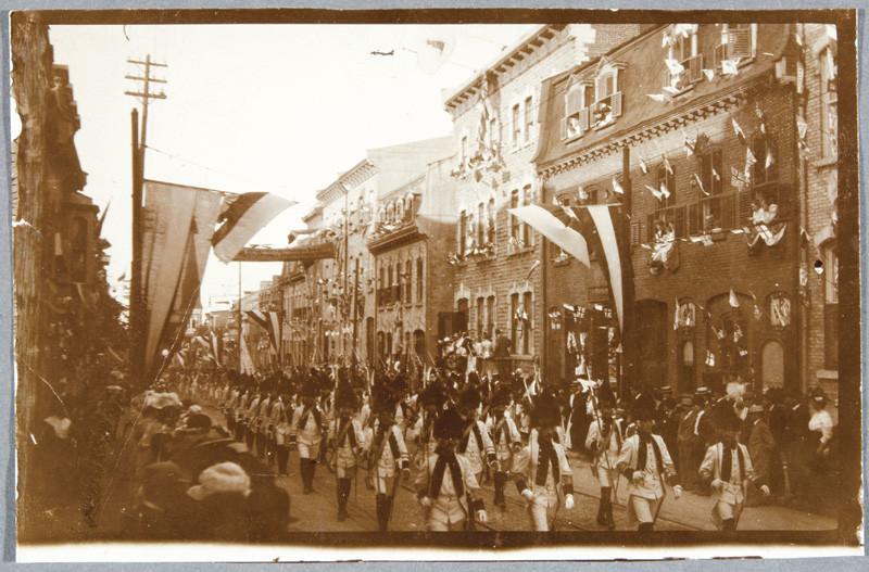 Inconnu / Unknown, Char allégorique de l'Union nationale des capitaines de bateaux à vapeur de Québec, 1900-1920 19,2 x 24,4 cm.