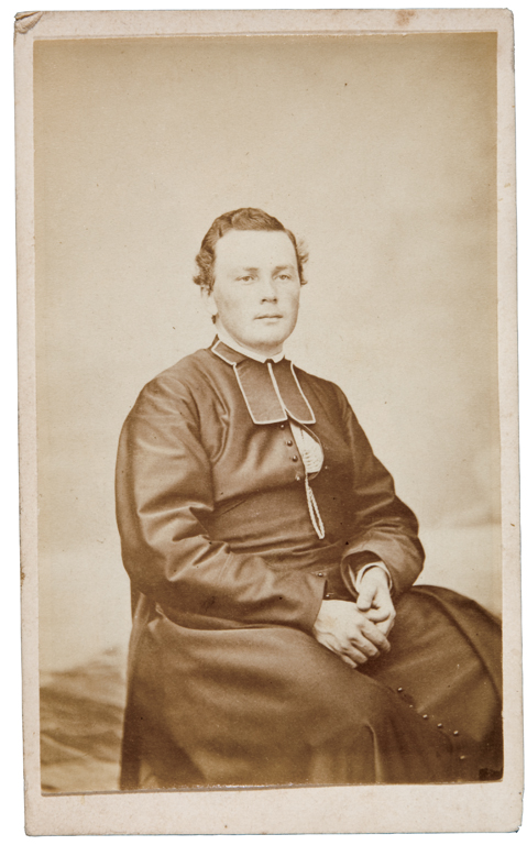 Louis-Michel Picard, Portrait de religieux, 1864-1880 10,1 cm x 6,1 cm. © Louis-Michel Picard
