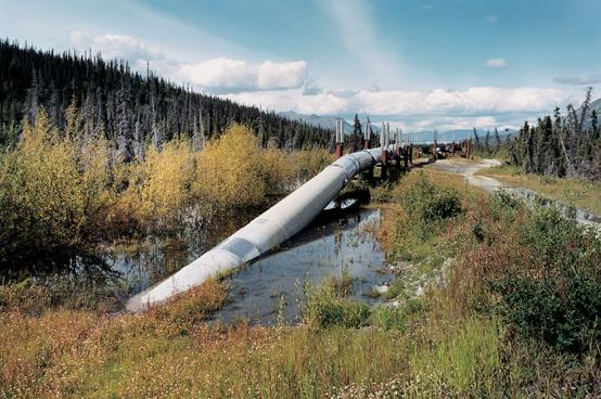John Ganis, Alaska Pipeline, North of Valdez, Alaska, From the series Consuming the American Landscape, 1984–2003, chromogenic print, 2001. © John Ganis