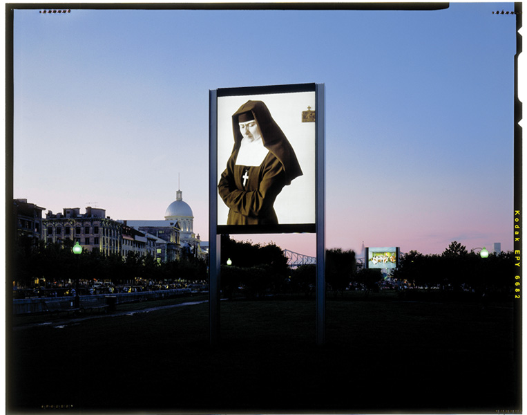 Clara Gutsche, Les Sœurs de la Visitation, La Pocatière, 1991, vue d'installation, 2,46 x 3,66 m, MAU, Montréal. © Clara Gutsche/SODRAC (2010). © Richard-Max Tremblay