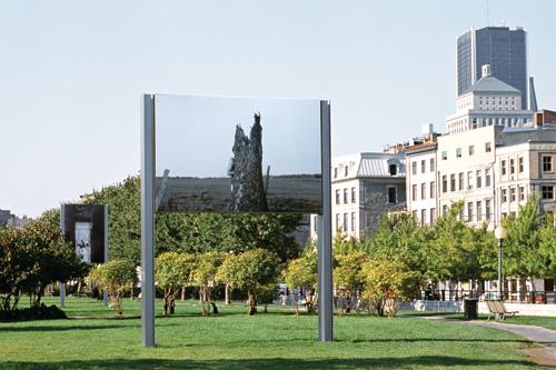 Raymonde April, Arbre, 2001, vue d'installation, 2,46 x 3,66 m, MAU, Montréal © Raymonde April