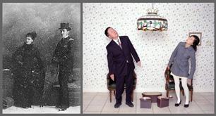 Notman & Sandham, W. H. Sands et sa compagne, Montréal, 1882 et Laurie Kang, Mon père et moi, 2007. © Notman & Sandham et Laurie Kang