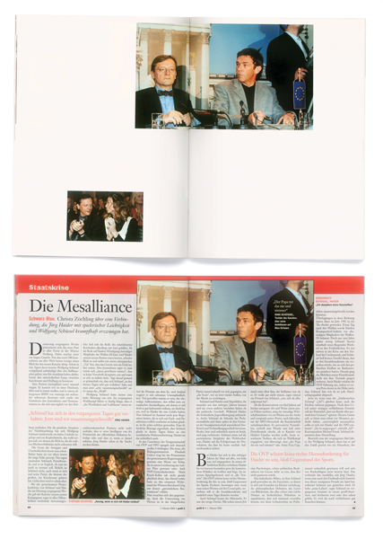 Images : Hans-Peter Feldmann, profil without words (détail), 2000, an issue without text of the weekly magazine profil, dated February 7, 2000. © Hans-Peter Feldmann