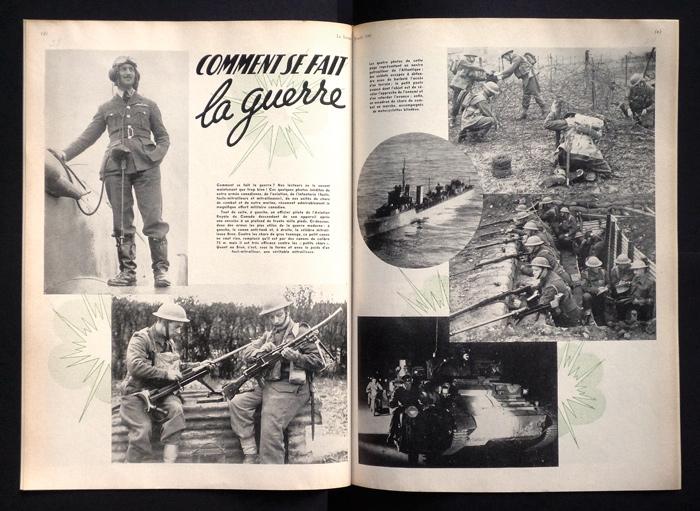« Comment se fait la guerre », Le Samedi, 24 août 1940, 36 x 72 cm.