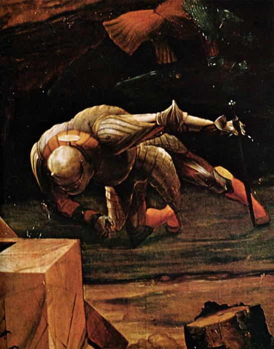 Grünewald, La Résurrection, un panneau du retable d'Issenheim (détail), 1512-1516, huile sur bois, 269 x 307 cm, Musée d'Unterlinden. © Tous droits réservés