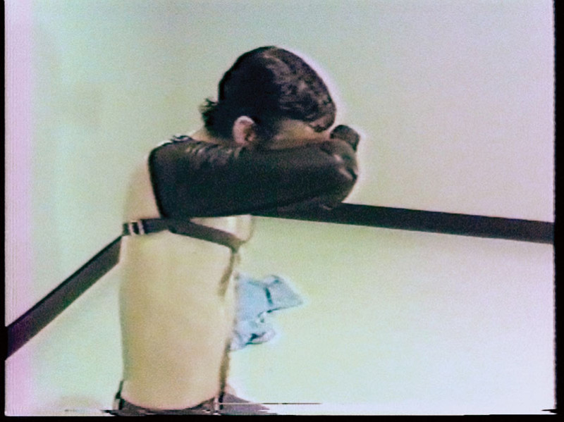 """Tim Clark, A Reading of """"On Obedience and Discipline"""" from The Imitation of Christ, by Thomas a Kempis, 1979, performance. © Tim Clark"""