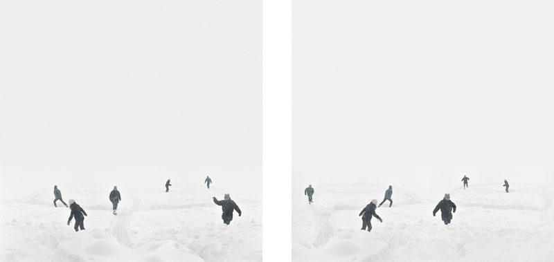 Catherine Bodmer, La bande de Moebius I (diptyque), 2008, impressions jet d'encre, 56 x 56 cm ch. © Catherine Bodmer