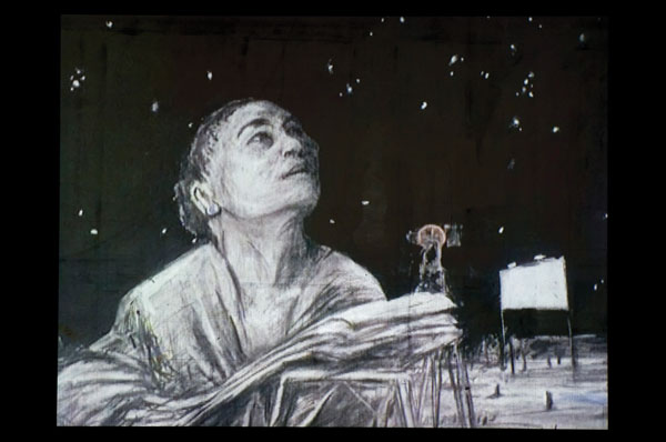 William Kentridge, Felix in Exile, 1994, video still, 35 mm animated film transferred to video, 8 min 34 sec. © William Kentridge