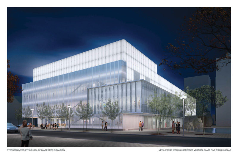 Simulation / Artist's rendering, School of Image Arts / Ryerson Gallery and Research Centre, permission de / courtesy of Cicada Design / Diamond + Schmitt Architects