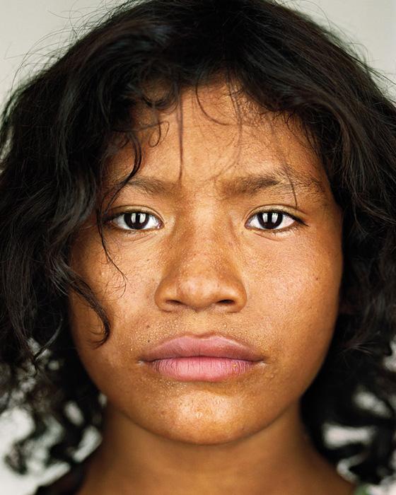 Martin Schoeller, Xiakababoi, 2007 , de la série / from the series Close Up, épreuve chromogénique numérique / digital c-prints, 156 x 127 cm. © Martin Schoeller