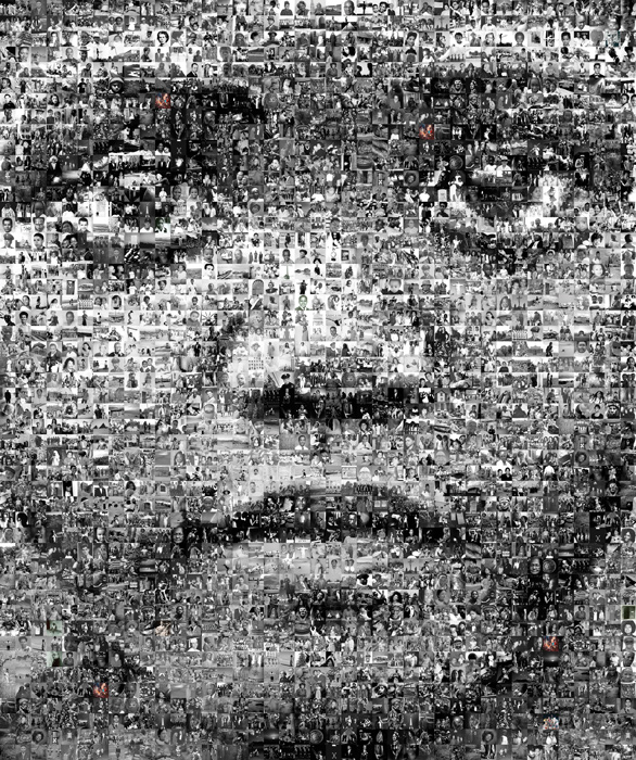 Robert Silvers, Runaway Technology, The Face of the African Diaspora, photomosaïque / photomosaic, 2005, permission de / courtesy of MoAD. © 2011