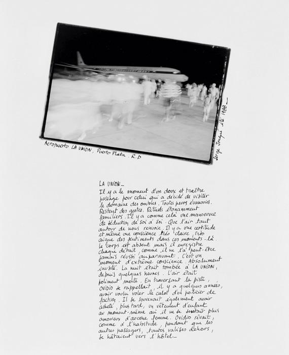 Serge Emmanuel Jongué, Nomade-12, 1990-1991, photographie argentique + écriture / gelatin silver photography + writing, 50 x 40 cm. © Serge Emmanuel Jongué