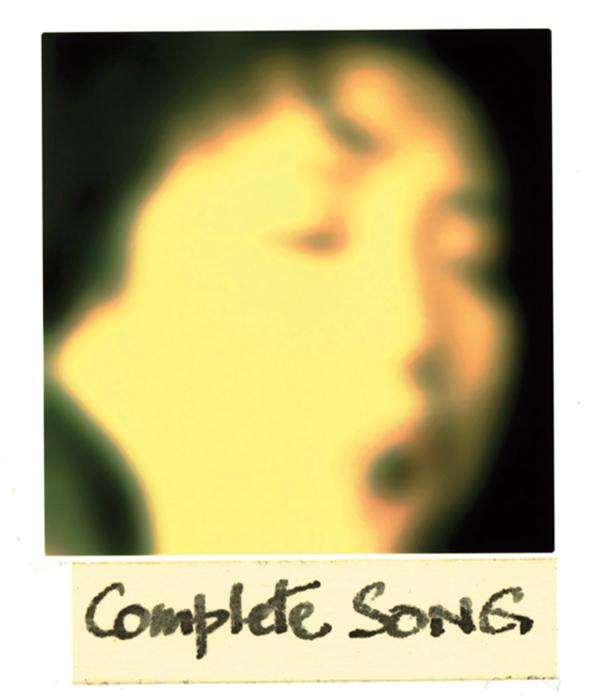 Serge Emmanuel Jongué, de la série / from the series Undressed Passion, 2000-2003, Complete Songs, photographie Polaroïd + écriture / Polaroid photographs + writing, 28 x 22 cm . © Serge Emmanuel Jongué