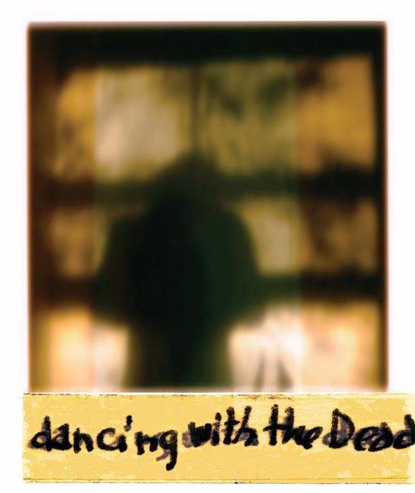 Serge Emmanuel Jongué, de la série / from the series Undressed Passion, 2000-2003, dancing with the Dead, photographie Polaroïd + écriture / Polaroid photographs + writing, 28 x 22 cm . © Serge Emmanuel Jongué