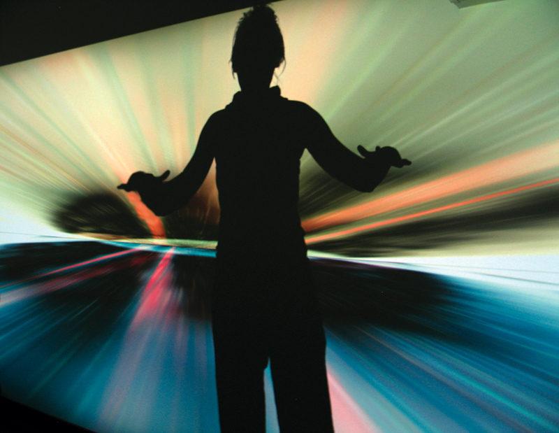 Jean-Pierre Aubé, Titan et au-delà de l'infini (détail), 2007, installation vidéo, galerie [Séquence], Chicoutimi. © Jean-Pierre Aubé