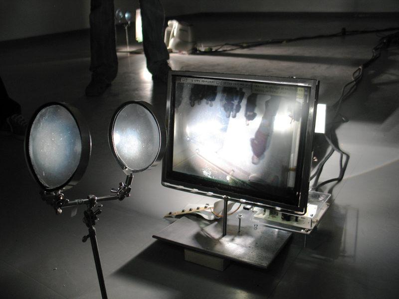 Alexandre Castonguay (en collaboration avec Mathieu Bouchard), Éléments (détail), 2004-2005, installation interactive, photo : Alexandre Leblanc
