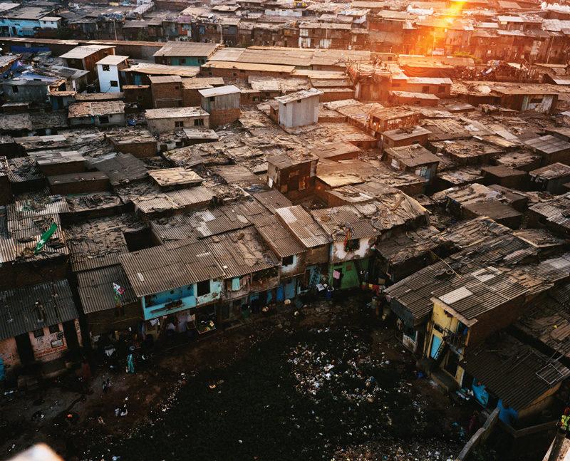 Gilles Coulon, Bidonvilles Mumbai, Mumbai, Inde, 2008. © Gilles Coulon
